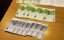 Поддельные евро попадают в Литву от разных фальшивомонетчиков
