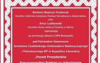 Promocja albumu Poczet Prezydentów Rzeczypospolitej Polskiej na uchodźstwie w latach 1939-1990