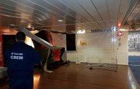 TV3: Во время шторма на Балтике пострадал член команды парома Tallink