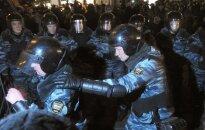Rusijos policija suėmė šimtus demonstrantų