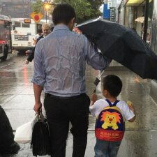 FOTO: jaudinantis tikro tėčio poelgis