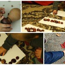 Žaidimai su rudens gėrybėmis, kurie lavina vaiką