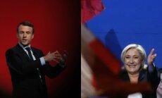 Emmanuel Macron ir Marine Le Pen