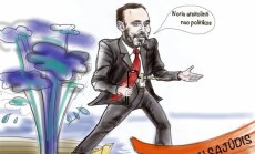 Arūnas Gelūnas, karikatūra (L. Šlipavičiūtės-Černiauskienės pieš.)