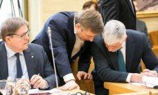 Eugenijus Jovaiša, Ramūnas Karbauskis ir Bronius Markauskas