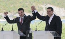 Atėnai ir Skopjė pasirašė sutartį dėl Makedonijos pavadinimo keitimo