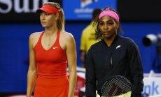 Marija Šarapova ir Serena Williams