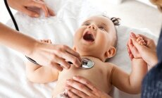 kūdikis, vaikas, serga, liga,ligoninė,gydytojas