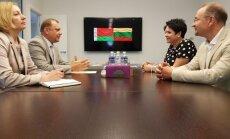 Baltarusijos ambasadorius A.Karol ir LTOK prezidentė D.Gudzinevičiūtė