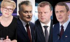 Ingrida Šimonytė, Gitanas Nausėda, Saulius Skvernelis, Arvydas Juozaitis