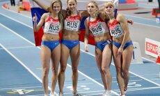 Rusijos atletės triumfavo estafetės 4x400 rungtyje