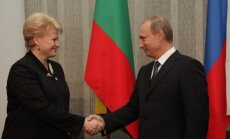 Dalia Grybauskaitė meets Vladimir Putin in 2010