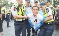 MP Petras Gražulis was detained by the police for refusing to obey during Baltic Pride 2013 events.
