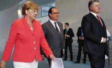 Angela Merkel, Francois Hollande'as, Petro Porošenka