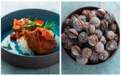 Šventiniam savaitgaliui – vištienos troškinys ir kakaviniai sausainiai