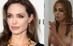 Po atliktos mastektomijos Angelina Jolie išdrįso apnuoginti savo krūtis