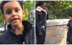 Šokiruojantis eksperimentas: mažas vaikas su cigarete (VIDEO)