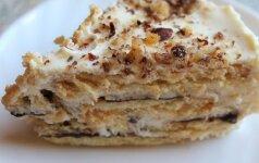 Meilė iš pirmo žvilgsnio: nekeptas sausainių pyragas