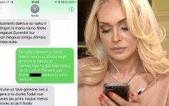 Oksana Pikul paviešino vyro žinutes: necenzūriniai žodžiai ir raginimas susikrovus daiktus su vaiku dingti iš jo namo