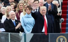 Donaldas Trumpas prie Kapitolijaus