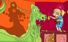 Linksma pramoga visai šeimai: sugalvok Dinozaurui vardą!