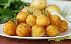 Bulvių kroketai su varške ir sūriu