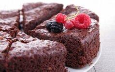 Šokoladinis pyragas, kuriam sunku atsispirti