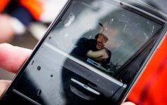 В Вильнюсе у ТЦ усмиряли пьяного водителя