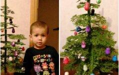 ORIGINALU: šeima iš Kauno eglę papuošė taip, kaip niekas kitas pasaulyje FOTO