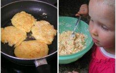 Gardumėlis: morkų, cukinijų ir varškės blynai