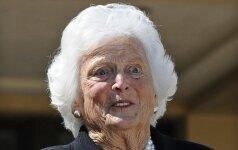 Mirė buvusi pirmoji JAV dama Barbara Bush