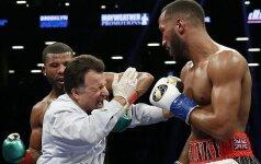 Как рефери неудачно попал под руку шведскому боксеру