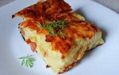 Bulvių plokštainis, pagardintas sūriu