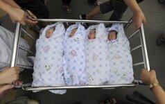 Neįtikėtina istorija: dvi seserys pagimdo dvynukus, kurie išties yra ketvertukas