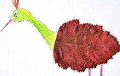 Laviname vaikus: 2 originalūs darbeliai su medžių lapais