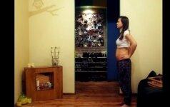 Originalus būdas įamžinti nėštumą: 9 mėnesiai per 2 minutes video