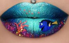 Ant lūpų šedevrus kurianti 24-erių makiažo meistrė tapo instagramo sensacija (FOTO)