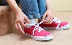 Genialus būdas užsirišti batus daug greičiau ir paprasčiau VIDEO