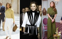 Hidžabo nedėvinti Jordanijos karalienė savo stiliumi įkvepia moteris visame pasaulyje
