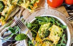 Bulvių ir pomidorų pyragas su brokoliniais kopūstais