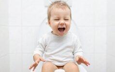 Vaikas nenori sėstis ant klozeto: 3 priežastys, apie kurias gal nepagalvojote