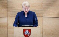 На следующей неделе президент Литвы выступит с годовым обращением
