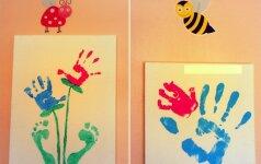 Kaip su delnų ir pėdų atspaudais papuošti vaiko kambarį
