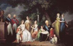 1. Семья pyсского царя Павла I и царицы Марии Фёдоровны, Gerhard von Kiugelgen,1800г.