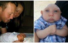 Atsisakiusi aborto šeima džiaugiasi kiekviena sūnaus diena (FOTO)