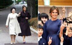 Keliaudama po Aziją Melania Trump daugiausiai vilkėjo europiečių dizainerių drabužius