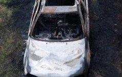 Взорвался загоревшийся VW Golf, в котором находился человек