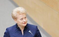 Грибаускайте попала в рейтинг политиков, которые будут формировать политику ЕС