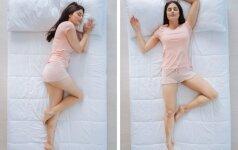 Kokią miego pozą rinktis, jei rytais jauti nugaros skausmus