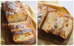 Kondensuoto pieno pyragas su persikais